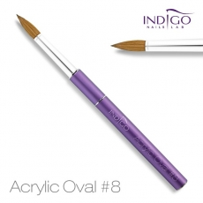 Acrylic Oval Brush No. 8.