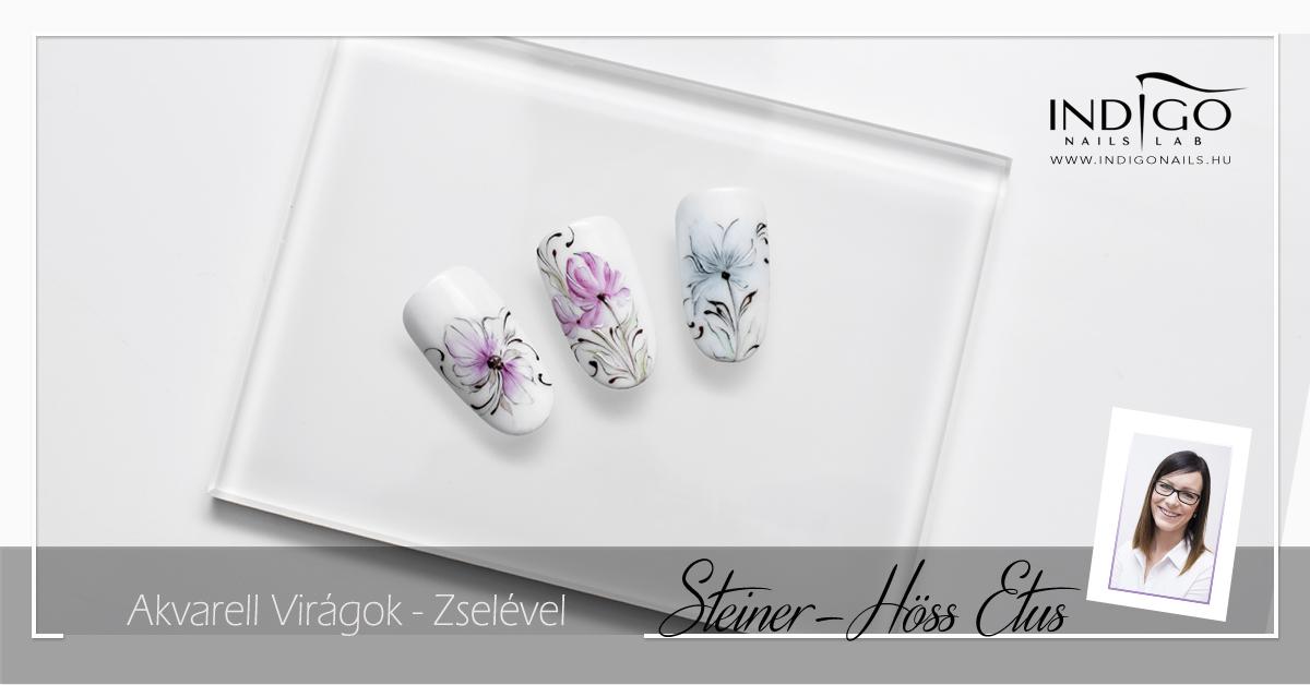 Akvarell Virágok- Zselével